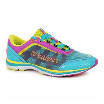 Chaussures running femme SPEED 3 turquoise/cactus