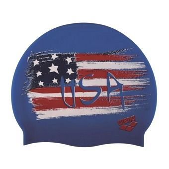 Bonnet de bain PRINT 2 flag USA