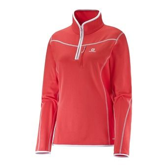 Maillot 1/2 ZIP femme DISCOVERY infrared