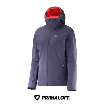Veste à capuche reversible isolant/imperméable femme DRIFTER nightshade grey/infrared