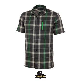 Chemise MC homme COMPASS metal/balsam