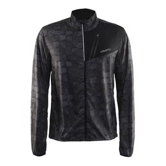 Chaqueta hombre DEVOTION square gris/black