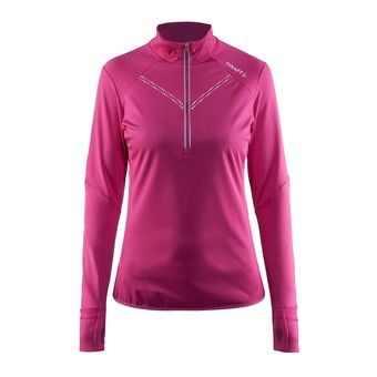 Haut ML col 1/2 zip femme THERMAL WIND COVER smoothie/pop