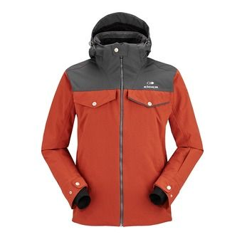 Veste de ski homme SOHO oxide red/raven