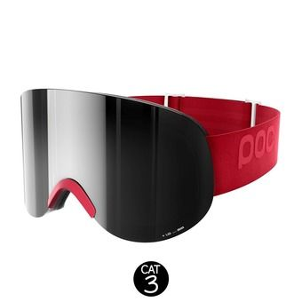 Masque de ski LID glucose red-bronze/silver mirror