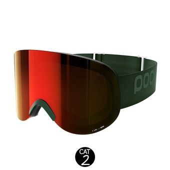 Masque de ski LID methane green-persimmon/red mirror