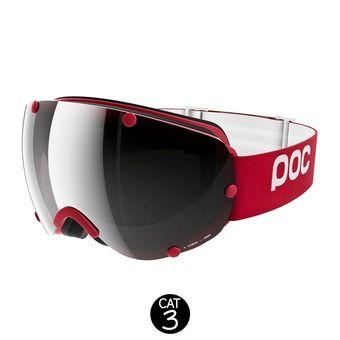 Gafas de esquí LOBES glucose red-bronze/silver mirror