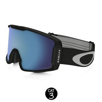 Masque de ski LINE MINER matte black - prizm sapphire iridium