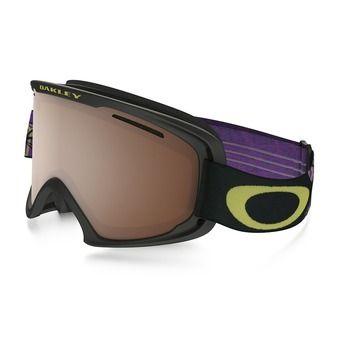 Masque de ski O2 XM neuron citrus purple - black iridium