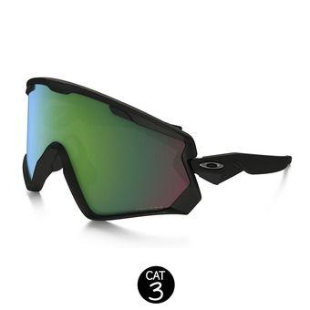 Masque de ski WIND JACKET matte black - prizm jade iridium