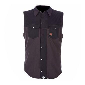 Camisa con protección dorsal hombre ACTION XV D30 black/grey