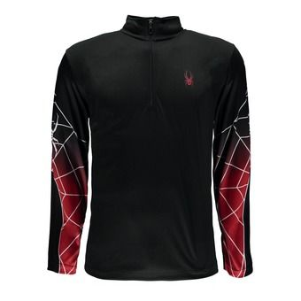 Maillot ML 1/2 zip homme WEBSTRONG black/black/red