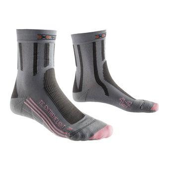Chaussettes de randonnée femme TREK EXTREM LIGHT grey / pink