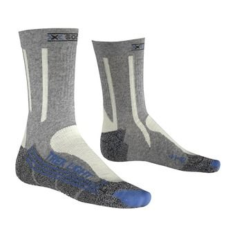 Calcetines de senderismo mujer TREK LIGHT grey/blue