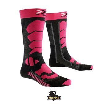 Chaussettes de ski femme SKI CONTROL anthracite / fushia