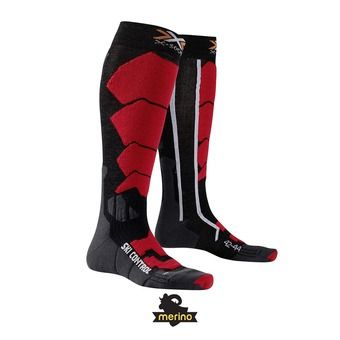 Chaussettes de ski homme SKI CONTROL black / red