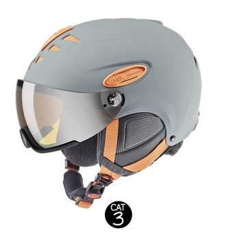 Casque de ski HLMT 300 VISOR grey orange mat