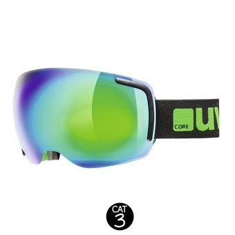 Masque de ski BIG 40 FM black green mat/mirror green clear