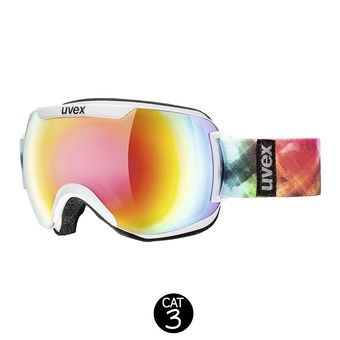 Masque de ski DOWNHILL 2000 FM white/mirror rainbow rose