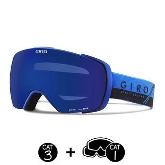 Masque CONTACT blue/black slash-grey cobalt - persimmon boost - 2 écrans
