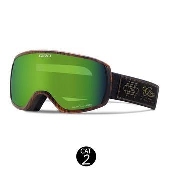 Masque BALANCE black denim blazer - loden green