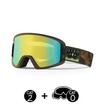 Masque SEMI mil spec olive/camo captain - loden yellow + yellow  - 2 écrans