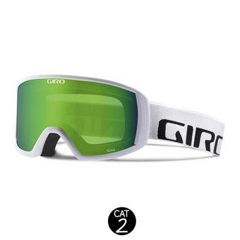 Masque SCAN white wordmark - loden green