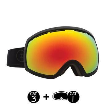 Masque de ski EG2 matte black/brose red chrome+light green - 2 écrans