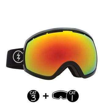 Masque de ski EG2 gloss black/brose red chrome+light green - 2 écrans