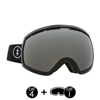 Masque de ski EG2 gloss black/brose silver chrome+light green - 2 écrans