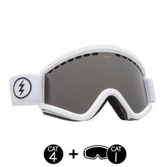 Gafas de esquí mujer EGV gloss white/brose silver chrome+light green - 2 pantallas