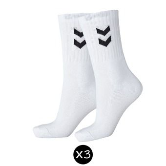 Pack de 3 pares calcetines BASIC blanco