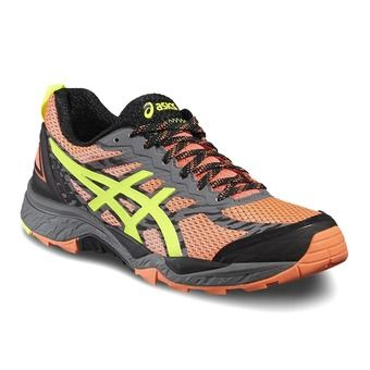 Chaussures trail femme GEL FUJITRABUCO 5 flash coral/safety yellow/black