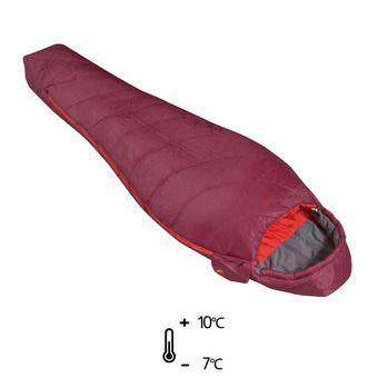 Saco de dormir mujer 10°C/-7°C BAIKAL 750 velvet red