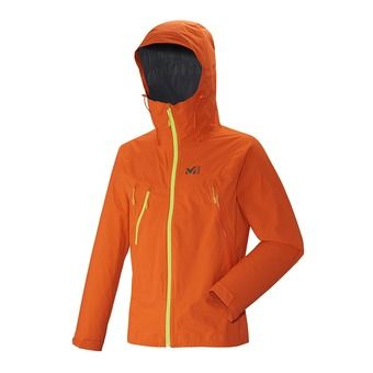 Chaqueta de alpinismo hombre TRIDENT 2.5L STRETCH bright orange