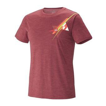 Tee-shirt MC homme CLOUD PEAK WOOL burgundy