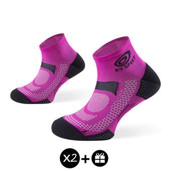 Pack de 3 pares de calcetines SCR ONE fucsia