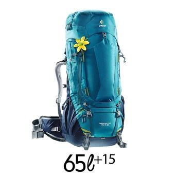 Mochila mujer 65+15L AIRCONTACT PRO azul denim/azul noche