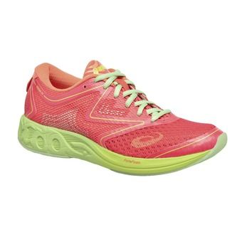 Zapatillas triatlón mujer GEL-NOOSA TRI 12 diva pink/paradise green/melon