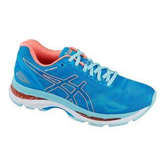 Chaussures running femme GEL-NIMBUS 19 blue/flash coral/aqua splash
