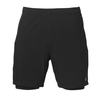 Short 2 en 1 homme RACE 7 IN performance black