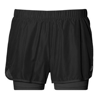 Short 2 en 1 femme 3.5 IN performance black