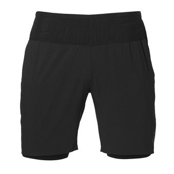 Short homme 2-N-1 performance black