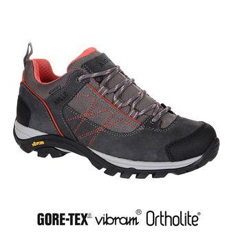 Zapatillas de senderismo mujer MOOVEN LOW GTX dark grey/papaye