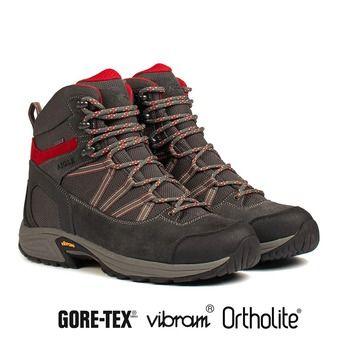 Zapatillas de senderismo hombre MOOVEN MID GTX dark grey/red