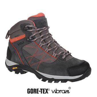 Zapatillas de senderismo mujer MOOVEN MID GTX dark grey/papaye