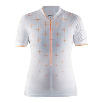 Camiseta mujer BELLE GLOW white/sprint