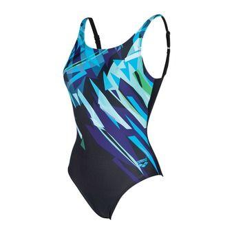 Maillot de bain 1 pièce femme CANVAS B black/turquoise
