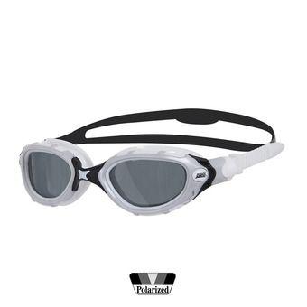 Gafas de natación polarizadas PREDATOR FLEX SMOKED white/black/smoke
