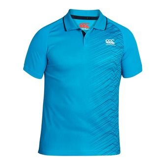 Polo MC homme GRAPHIC POLY blue danube